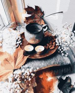 Фото Картины на холсте по номерам, Картины  в пакете (без коробки) 50х40см; 40х40см; 40х30см, Цветы, букеты, натюрморты GX 39375 Осенний аромат Картина по номерам на холсте 40х50см, без коробки
