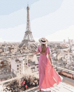Фото Картины на холсте по номерам, Романтические картины. Люди KGX 39385 Парижская терраса Картина по номерам на холсте 40х50см