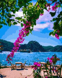 Фото Картины на холсте по номерам, Картины  в пакете (без коробки) 50х40см; 40х40см; 40х30см, Пейзаж, морской пейзаж. GX 39387 На побережье Картина по номерам на холсте 40х50см, без коробки