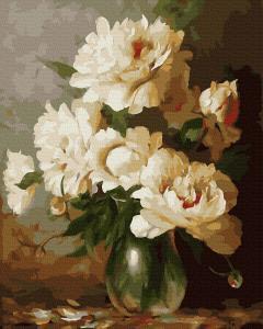 Фото Картины на холсте по номерам, Букеты, Цветы, Натюрморты KGX 39401 Пышные пионы Картина по номерам на холсте 40х50см