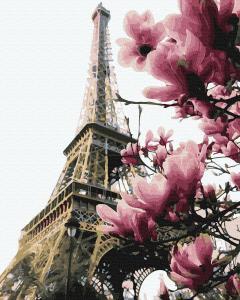 Фото Картины на холсте по номерам, Городской пейзаж KGX 39469 Цветение Парижа Картина по номерам на холсте 40х50см