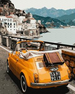 Фото Наборы для вышивания, Вышивка крестом с нанесенной схемой на конву, Пейзаж KGX 39476 Ретро-автомобиль Картина по номерам на холсте 40х50см