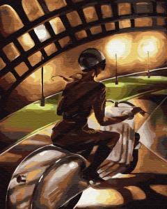 Фото Картины на холсте по номерам, Романтические картины. Люди KGX 29722 Малышка на драйве Роспись по номерам на холсте 40х50см