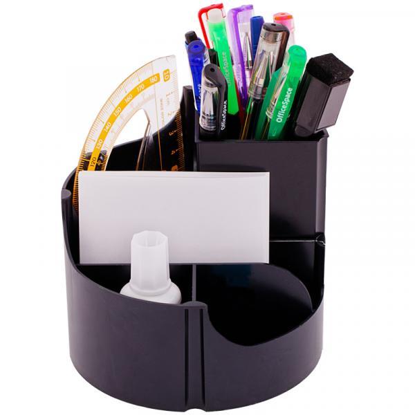 "Настольная подставка OfficeSpace ""Simple"", вращающаяся, черная"