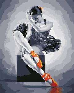 Фото Картины на холсте по номерам, Романтические картины. Люди AS 0566 Балерина Картина по номерам на холсте ART STORY 40x50см
