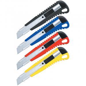 Фото Канцелярские товары (ЦЕНЫ БЕЗ НДС), Ножницы, ножи, лезвия, резаки, Ножи канцелярские, лезвия, резаки, Ножи канцелярские Нож канцелярский 18мм Berlingo