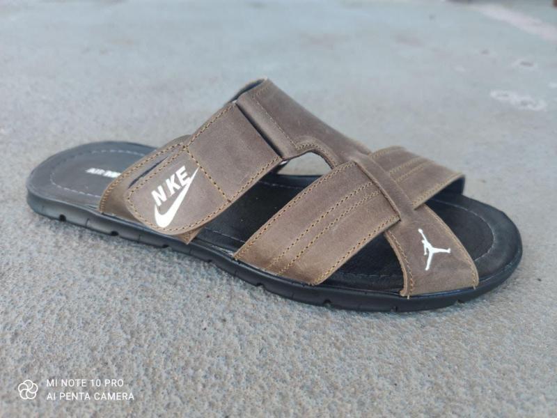 Шлепки мужские Nike кожаные 46-50 рр. Украина 47