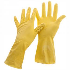 Фото Хозяйственные товары (ЦЕНЫ БЕЗ НДС), Перчатки хозяйственные, бахилы медецинские Перчатки резиновые OfficeClean хозяйственные, размеры см. подробнее, желтые