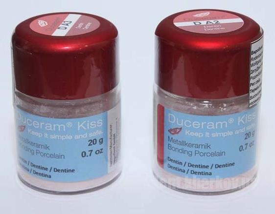 Фото Для зуботехнических лабораторий, МАТЕРИАЛЫ, Керамические массы,  Duceram Duceram kiss Dentin A2, A3, A3.5, D3
