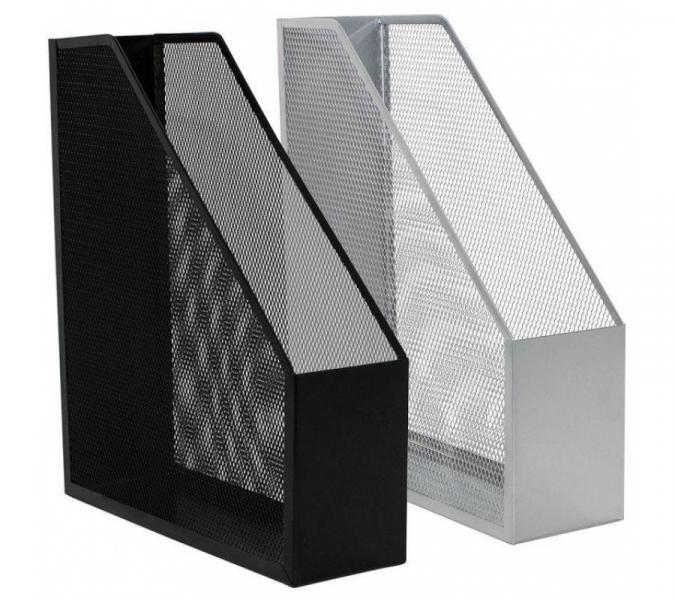 Модуль для каталогов вертикальный Q-Connect, черный, серебристый, металл. сетка