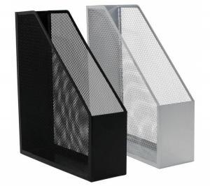 Фото Канцелярские товары (ЦЕНЫ БЕЗ НДС), Лотки для бумаг, Лотки вертикальные настольные, настенные Модуль для каталогов вертикальный Q-Connect, черный, серебристый, металл. сетка