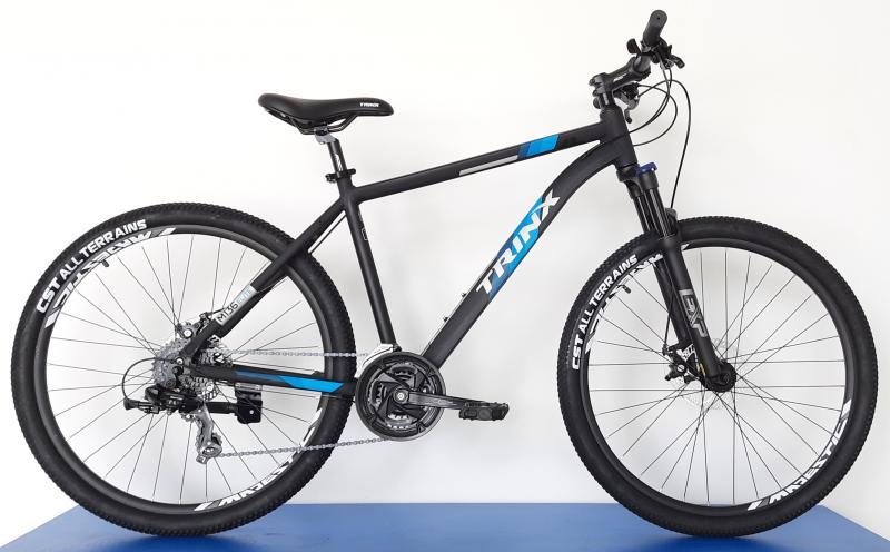 Велосипед Trinx-2021 M136 ELITE чорний матовий сіро синій