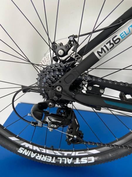 Фото ВЕЛОСИПЕДИ, TRINX Велосипед Trinx-2021 M136 ELITE чорний матовий сіро синій