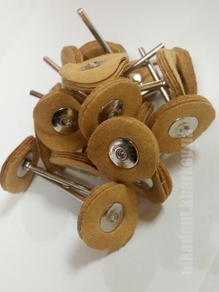 Фото Для зуботехнических лабораторий, АКСЕССУАРЫ, Полиры, щетки, диски Крацовка натуральна замша 22 (мм)