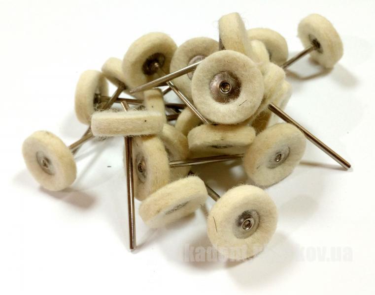 Фото Для зуботехнических лабораторий, АКСЕССУАРЫ, Полиры, щетки, диски Фильц плотный (Ø22 мм)