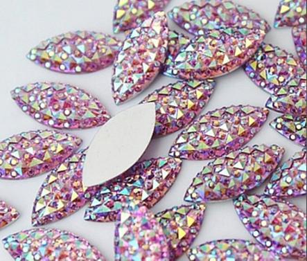 Фото Серединки ,кабашоны, Кабашоны, камеи Кабашон  20 * 9 мм. Кристалический . Светло - Розовый цвет с АВ .