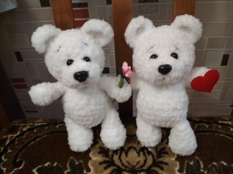 "Мягка игрушка ""Белый мишка"". Вязание на заказ. Вязаный крючок"