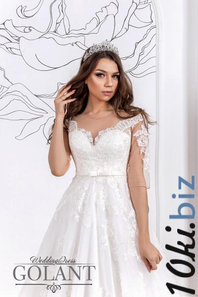 Свадебные платья - Свадебное платье со шлейфом для беременных невест Энди