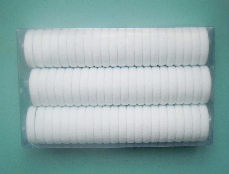 Фото Основы ,фурнитура для канзаши, Резинки Резиночка  3 см.  Нейлоновая , безшовная , плотная .  Белого  цвета.  Упаковка  66 шт.