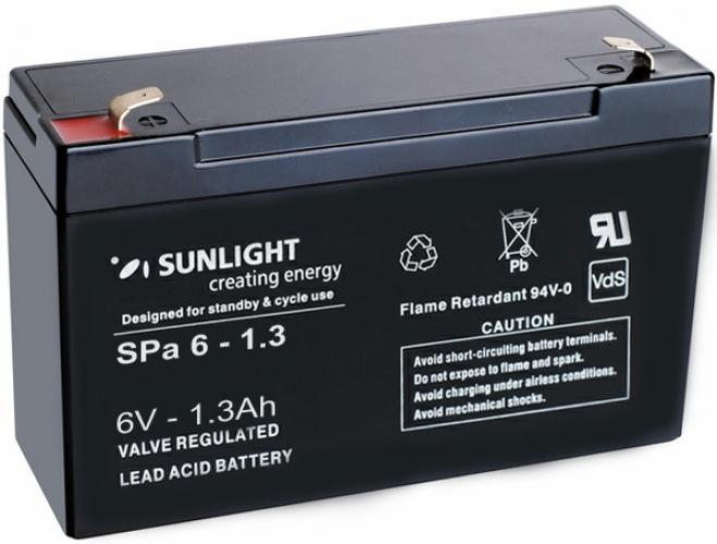 Фото Аккумуляторы для ИБП (UPS) Sunlight SP 6-1.3