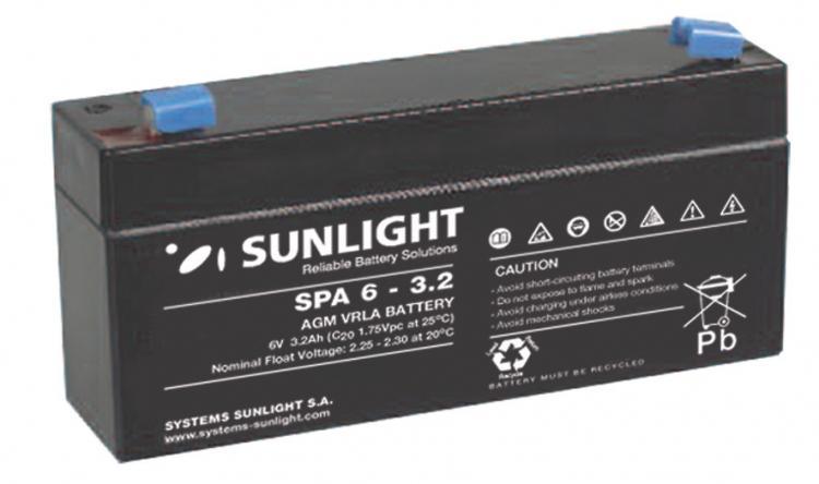 Фото Аккумуляторы для ИБП (UPS) Sunlight SP 6-3.2