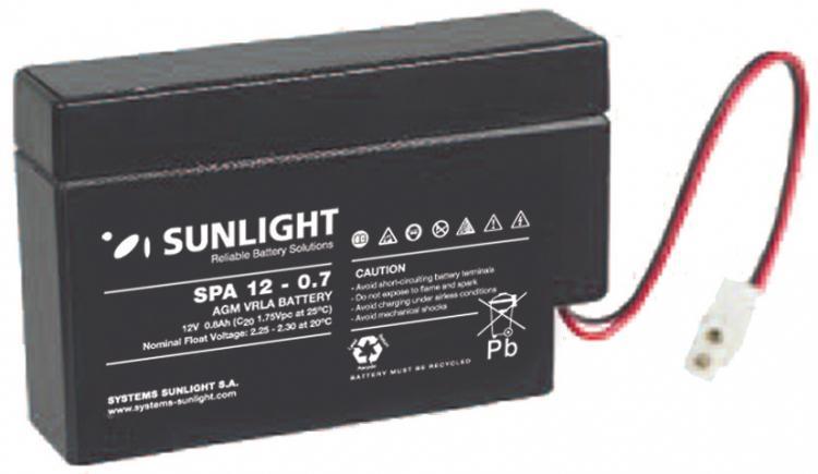 Фото Аккумуляторы для ИБП (UPS) Sunlight SP 12-0.7