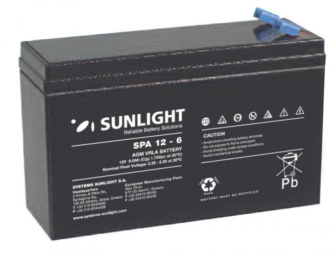 Фото Аккумуляторы для ИБП (UPS) Sunlight SP 12-6