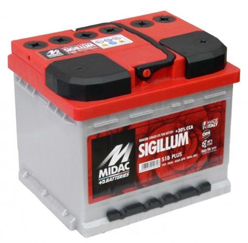 Фото Аккумуляторы для автомобилей Midac Sigillum 50 H