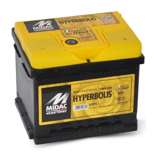Фото Аккумуляторы для автомобилей Midac Hyperbolis 47 Н