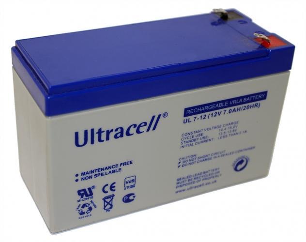 Фото Аккумуляторы для ИБП (UPS) Ultracell UL7-12 12V 7Ah