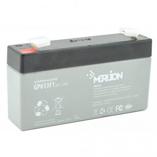 Фото Аккумуляторы для ИБП (UPS) Merlion GP613F1 6V 1.3Ah