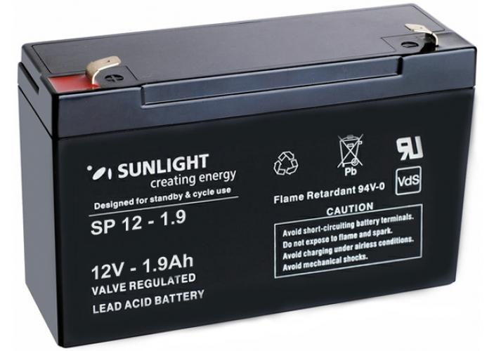 Фото Аккумуляторы для ИБП (UPS) Sunlight SP 12-1.9