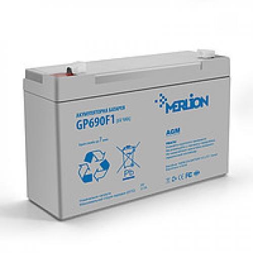 Фото Аккумуляторы для ИБП (UPS) Merlion GP690F1 6V 9Ah