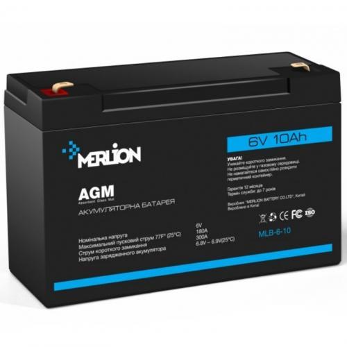 Фото Аккумуляторы для ИБП (UPS) Merlion GP610F2 6V 10Ah