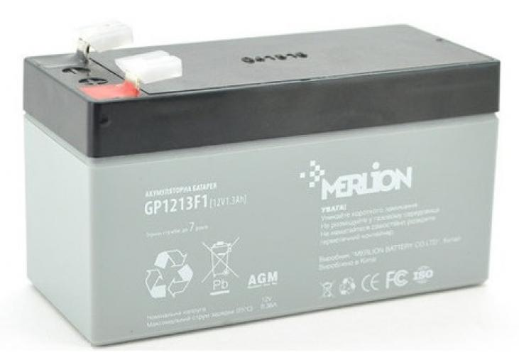 Фото Аккумуляторы для ИБП (UPS) Merlion GP1213F1 12V 1.3Ah