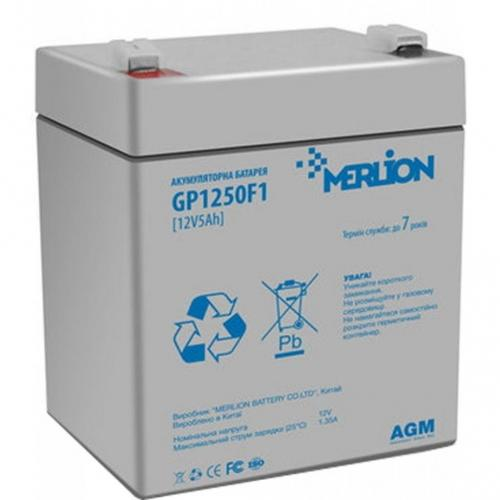 Фото Аккумуляторы для ИБП (UPS) Merlion GP1250F1 12V 5Ah