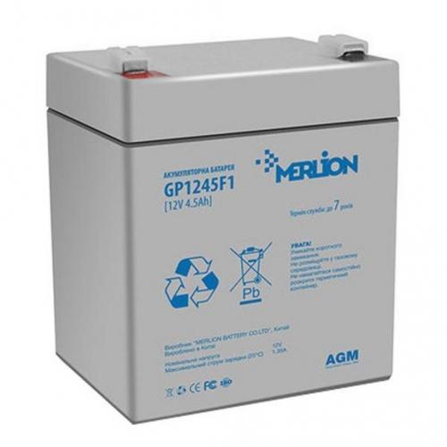 Фото Аккумуляторы для ИБП (UPS) Merlion GP1245F1 12V 4.5Ah