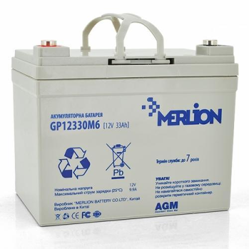 Фото Аккумуляторы для ИБП (UPS) Merlion GP12330M6 12V 33Ah