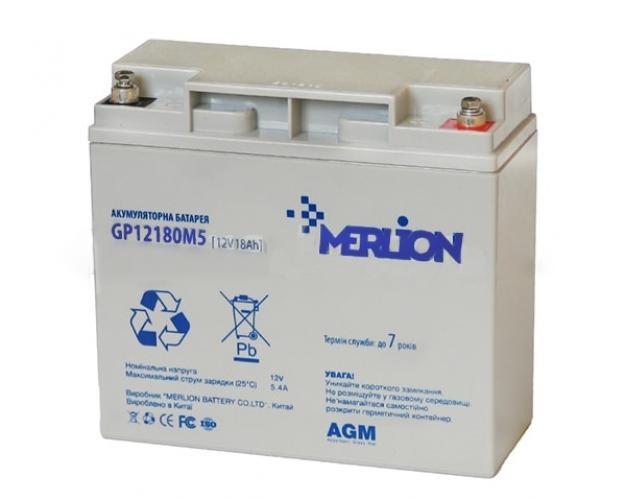 Фото Аккумуляторы для ИБП (UPS) Merlion GP12180M5 12V 18Ah
