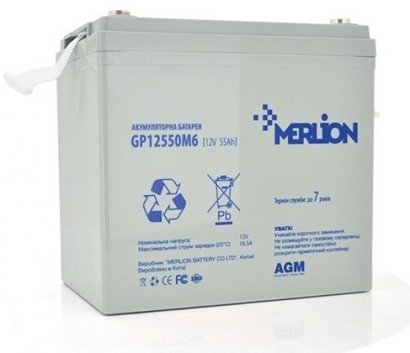Фото Аккумуляторы для ИБП (UPS) Merlion GP12550M6 12V 55Ah