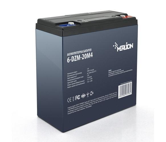 Фото Аккумуляторы для электровелосипедов и скутеров Merlion 6-DZM-20 12V 20Ah