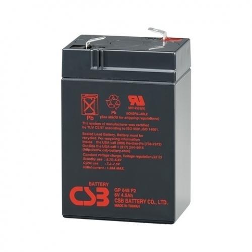 Фото Аккумуляторы для ИБП (UPS) CSB GP 645 6V 4.5Ah