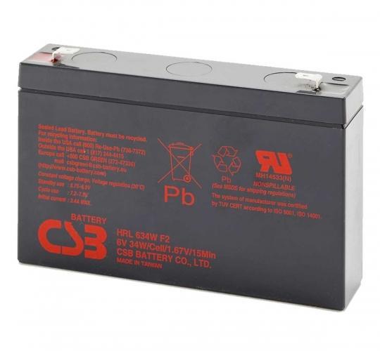 Фото Аккумуляторы для ИБП (UPS) CSB HRL634WF2 6V 9Ah