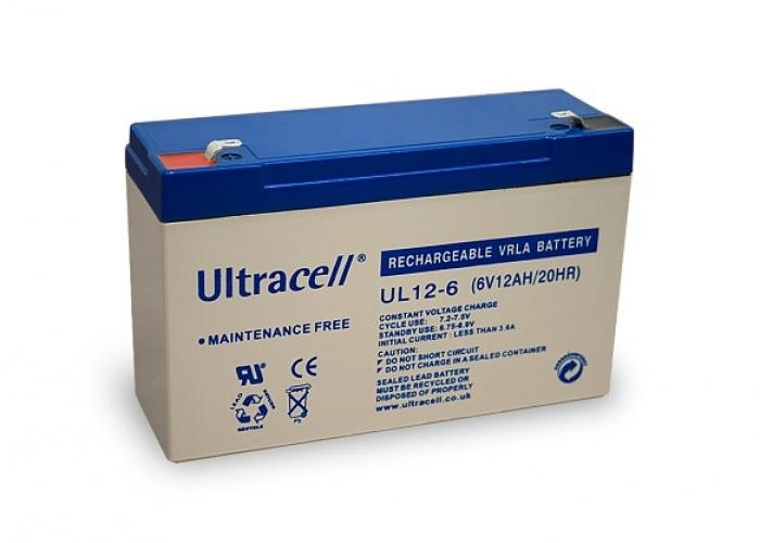 Фото Аккумуляторы для ИБП (UPS) Ultracell UL12-6 6V 12Ah
