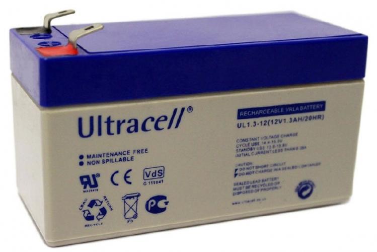 Фото Аккумуляторы для ИБП (UPS) Ultracell UL1.3-12 12V 1.3Ah