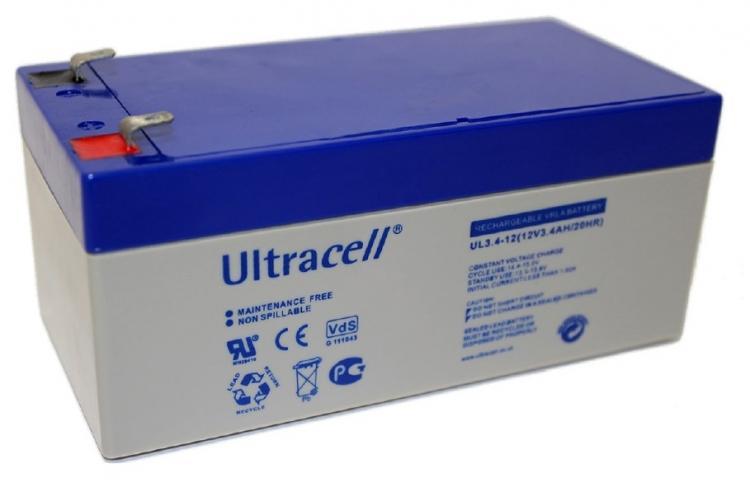Фото Аккумуляторы для ИБП (UPS) Ultracell UL3.4-12 12V 3.4Ah
