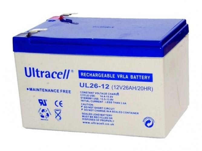 Фото Аккумуляторы для ИБП (UPS) Ultracell UL26-12 12V 26Ah