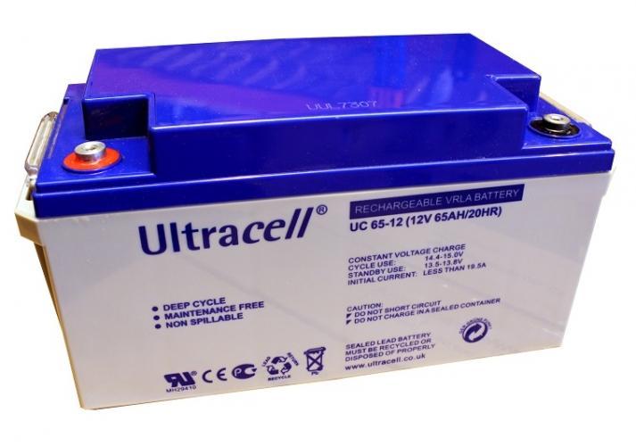 Фото Аккумуляторы для ИБП (UPS) Ultracell UC65-12 12V 65Ah