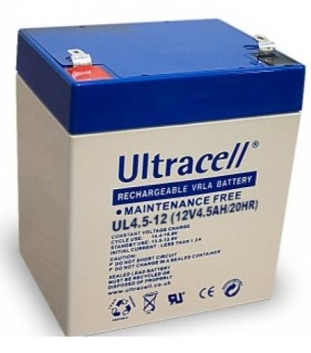 Фото Аккумуляторы для ИБП (UPS) Ultracell UL4.5-12 12V 4.5Аh