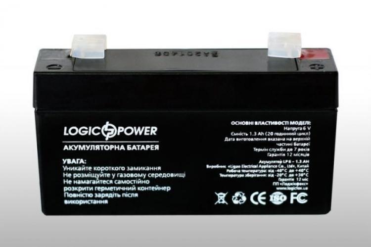 Фото Аккумуляторы для ИБП (UPS) LogicPower LP 6V 1.3Ah